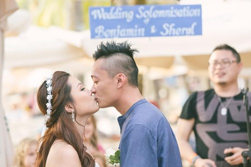 Wedding Day Photography at Sandbar, Siloso Beach, Sentosa (Ben & Sheryl)